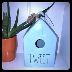 Rae Dunn  bird house TWEET BLESSED